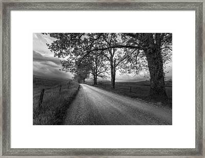 Road Not Traveled Framed Print by Jon Glaser