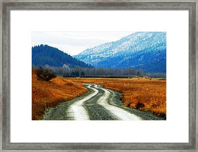 Road Of Dreams Framed Print by Annie Pflueger