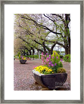 Framed Print featuring the photograph Road Of Flowers by Andrea Anderegg