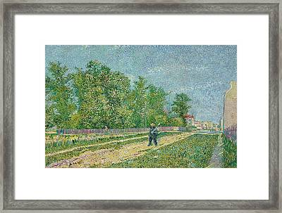 Road On The Edge Of Paris Framed Print by Vincent Van Gogh