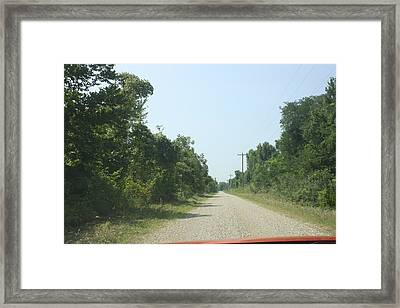 Road Once Traveled Framed Print by Michelle Will