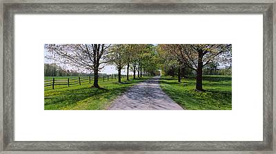 Road Passing Through A Farm, Knox Farm Framed Print by Panoramic Images