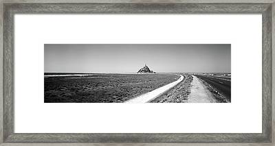 Road Passing Through A Landscape, Mont Framed Print by Panoramic Images