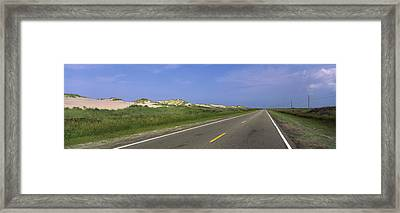 Road Passing Through A Landscape, North Framed Print by Panoramic Images