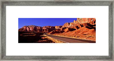 Road Passing Through Capitol Reef Framed Print by Panoramic Images