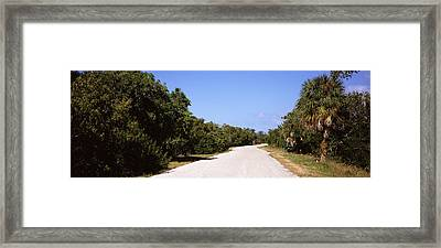 Road Passing Through Ding Darling Framed Print