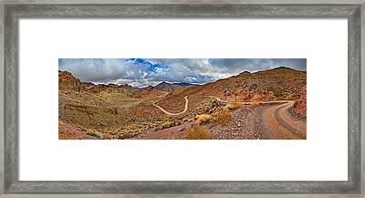 Road Passing Through Landscape, Titus Framed Print