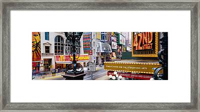 Road Running Through A Market, 42nd Framed Print by Panoramic Images