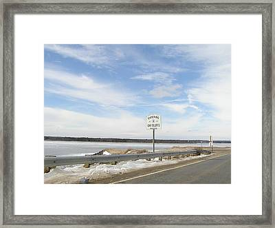 Road Sign Framed Print