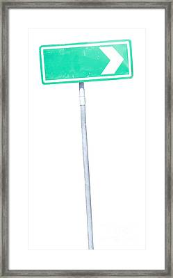 Road Sign Framed Print by Jorgo Photography - Wall Art Gallery