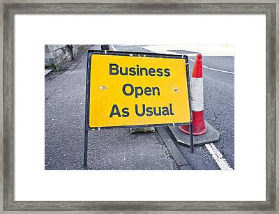 Road Sign Framed Print by Tom Gowanlock