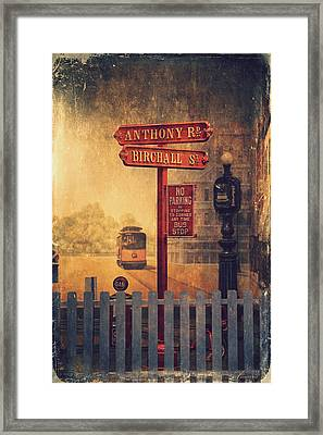 Road Signs Framed Print by Maria Angelica Maira