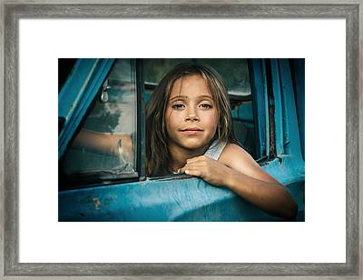 Road Story Framed Print by Alex Gusev