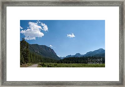 Framed Print featuring the photograph Road Through Hyalite Canyon by Charles Kozierok