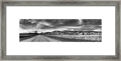 Road Through Port Oneida Framed Print by Twenty Two North Photography