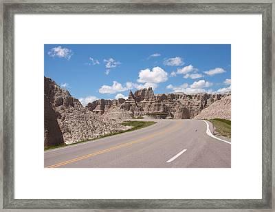Road Through The Badlands Framed Print