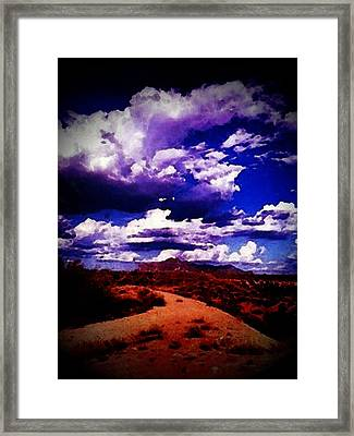 Road To Arizona Framed Print by Chepe Guillen
