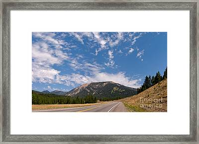 Framed Print featuring the photograph Road To Big Sky Country by Charles Kozierok