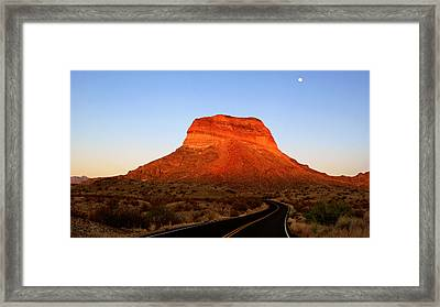 Road To Cerro Castellan Framed Print by Daniel Woodrum