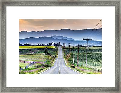 Road To Church Framed Print