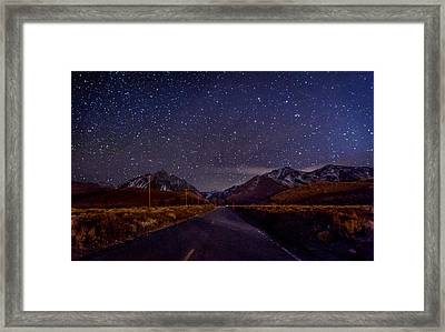 Road To Convict Lake Framed Print by Cat Connor