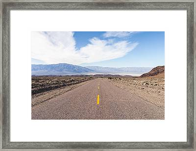 Road To Death Valley Framed Print