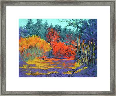 Framed Print featuring the painting Road To Deer Creek by Nancy Jolley