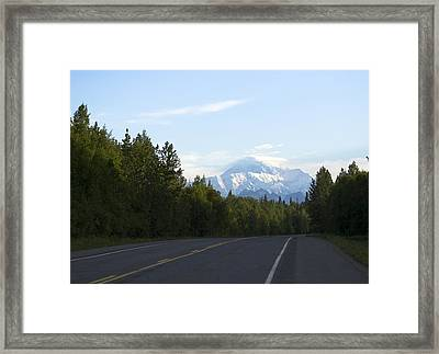 Road To Denali  Framed Print