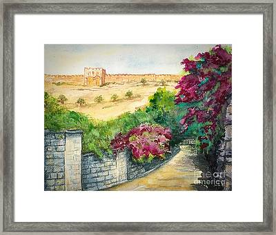 Road To Eastern Gate Framed Print