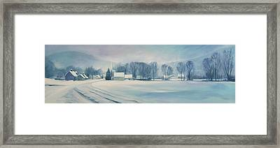 Road To Felchville Vermont Framed Print by Nancy Griswold