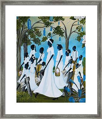 Road To Freedom Framed Print by Sonja Griffin Evans