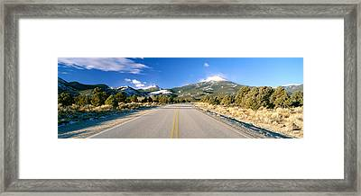 Road To Great Basin National Park Framed Print by Panoramic Images