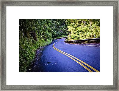 Road To Hana Framed Print by Adam Romanowicz