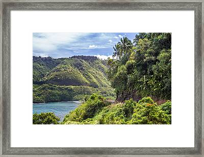 Road To Hana Framed Print by Pierre Leclerc Photography