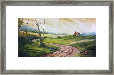Road To Heaven  Framed Print by Jolyn Kuhn