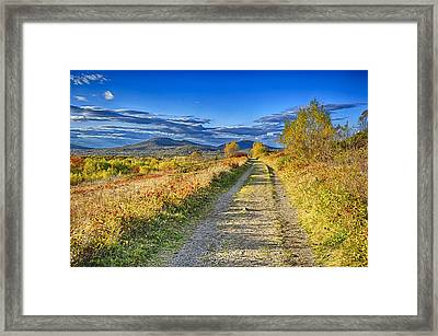 Road To Joy Framed Print by Gregory W Leary