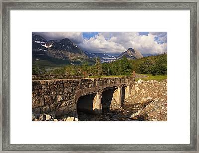 Road To Many Glacier Framed Print by Mark Kiver
