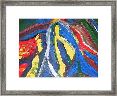 Road To Mokasi Village Framed Print by Mudiama Kammoh