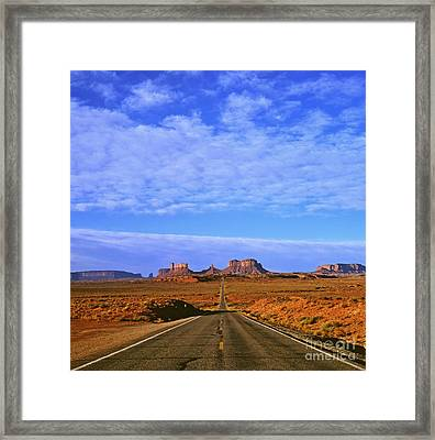 Road To Monument Valley Framed Print by Alex Cassels