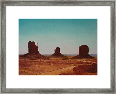 Road To Monument Valley Framed Print