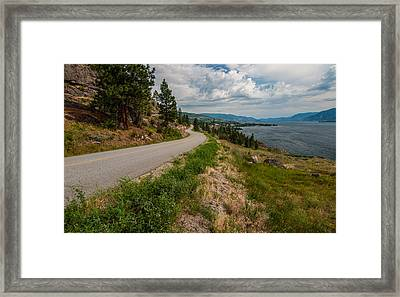 Road To Naramata Framed Print by James Wheeler