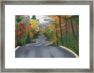 Road To Northport Framed Print