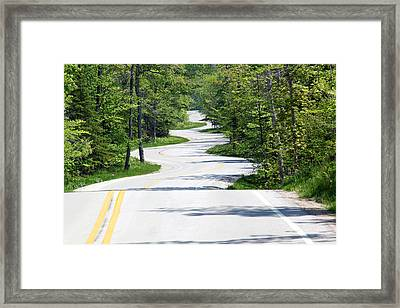 Road To Northport Framed Print by Kathy Weigman