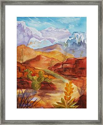 Road To Nowhere Framed Print by Ellen Levinson