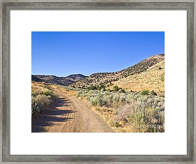 Road To Nowhere - Storey Nevada Framed Print