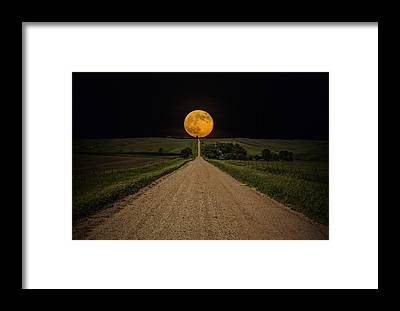 Full Moon Framed Prints