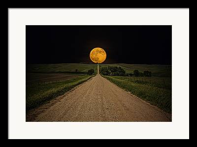 Dirt Road Framed Prints