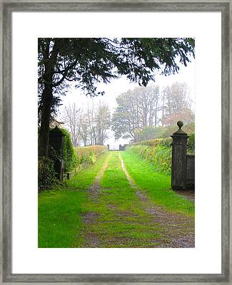 Framed Print featuring the photograph Road To Nowhere by Suzanne Oesterling