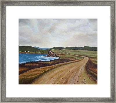 Road To Recovery Aka Cheticamp Ns Framed Print by Sharon Steinhaus