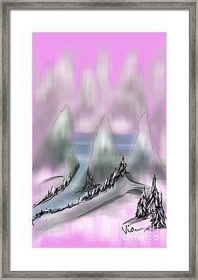 Road To Shangri La Framed Print by Judy Via-Wolff